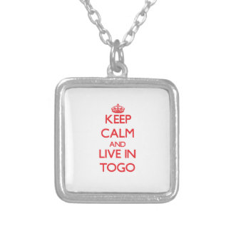 Keep Calm and live in Togo Personalized Necklace