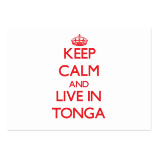 Keep Calm and live in Tonga Business Cards