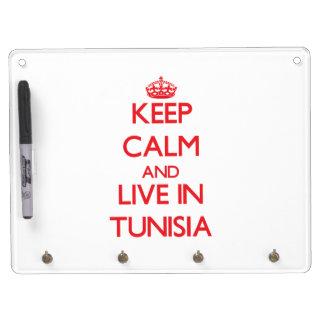 Keep Calm and live in Tunisia Dry Erase White Board