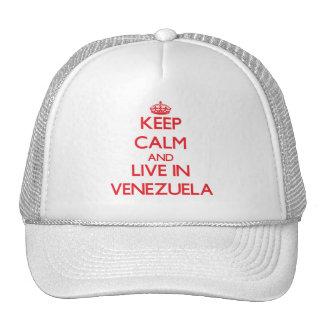 Keep Calm and live in Venezuela Trucker Hat