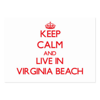 Keep Calm and Live in Virginia Beach Business Card Templates
