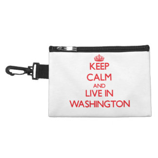 Keep Calm and Live in Washington Accessories Bag