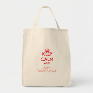 Keep Calm and Live in Wichita Falls Bags