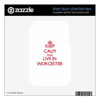 Keep Calm and Live in Worcester iPod Touch 3G Decals