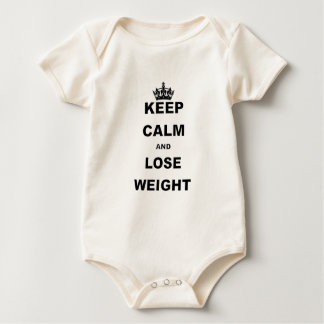 KEEP CALM AND LIVE LOSE WEIGHT.png Baby Bodysuit