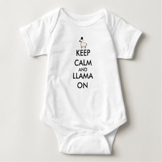Keep Calm and Llama On Baby Bodysuit