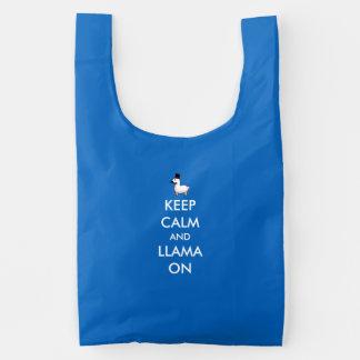 Keep Calm and Llama On Reusable Bag