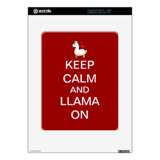Keep Calm and Llama On Skin Decal For iPad