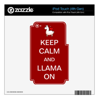 Keep Calm and Llama On Skin iPod Touch 4G Skin
