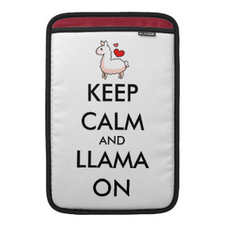 Keep Calm and Llama On Sleeve For MacBook Air