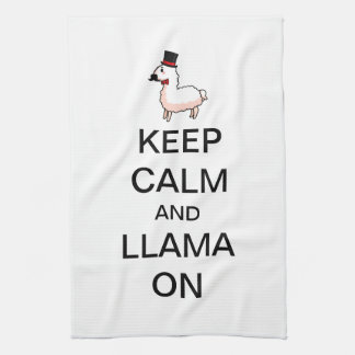 Keep Calm and Llama On Towel