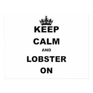KEEP CALM AND LOBSTER ON.png Postcard