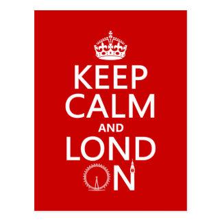 Keep Calm and Lond On (London) Postcard
