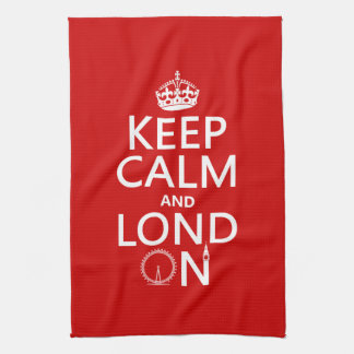 Keep Calm and Lond On (London) Towel
