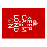 Keep Calm and London (Lond On) (any background) Business Card Templates