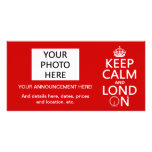 Keep Calm and London (Lond On) (any background) Photo Greeting Card