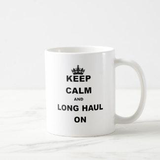 KEEP CALM AND LONG HAUL ON.png Classic White Coffee Mug