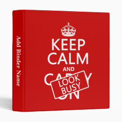 Avery Signature 1' Binder with Keep Calm and Look Busy design