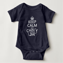 Baby Jersey Bodysuit with Keep Calm and Look Busy design