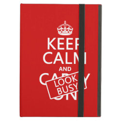 iPad Air Powis Case with Keep Calm and Look Busy design