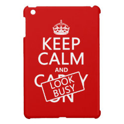Case Savvy iPad Mini Glossy Finish Case with Keep Calm and Look Busy design