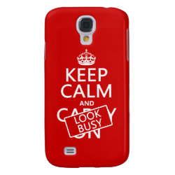 Case-Mate Barely There Samsung Galaxy S4 Case with Keep Calm and Look Busy design