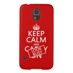 Case-Mate Barely There Samsung Galaxy S5 Case with Keep Calm and Look Busy design