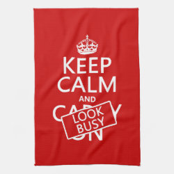Kitchen Towel 16' x 24' with Keep Calm and Look Busy design