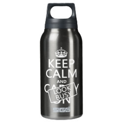 SIGG Thermo Bottle (0.5L) with Keep Calm and Look Busy design