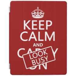 iPad 2/3/4 Cover with Keep Calm and Look Busy design