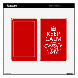 Amazon Kindle DX Skin with Keep Calm and Look Busy design