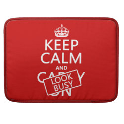 Macbook Pro 15' Flap Sleeve with Keep Calm and Look Busy design