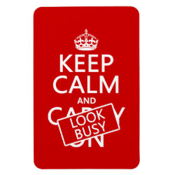 4'x6' Photo Magnet with Keep Calm and Look Busy design