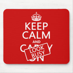 Mousepad with Keep Calm and Look Busy design