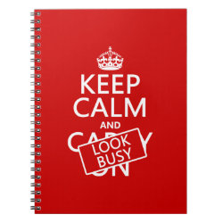 Photo Notebook (6.5' x 8.75', 80 Pages B&W) with Keep Calm and Look Busy design