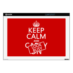 17' Laptop Skin for Mac & PC with Keep Calm and Look Busy design