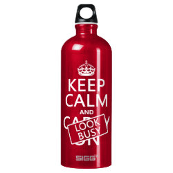 SIGG Traveller Water Bottle (0.6L) with Keep Calm and Look Busy design