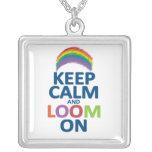 KEEP CALM AND LOOM ON RAINBOW NECKLACE