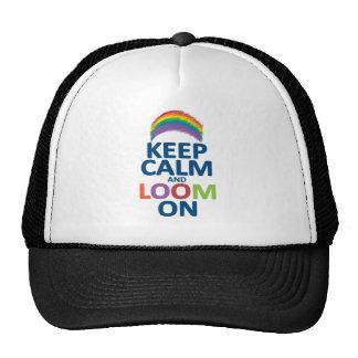 KEEP CALM AND LOOM ON RAINBOW TRUCKER HAT