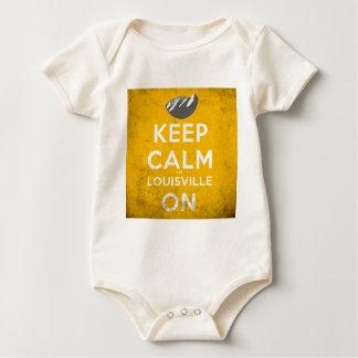 Keep Calm and Louisville On Louisville, Colorado Baby Bodysuit
