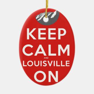 Keep Calm and Louisville On Louisville, Colorado Ceramic Ornament