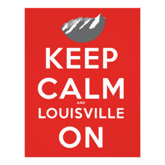 Keep Calm and Louisville On Louisville, Colorado Personalized Letterhead
