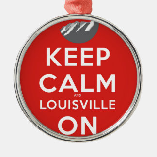 Keep Calm and Louisville On Louisville, Colorado Metal Ornament