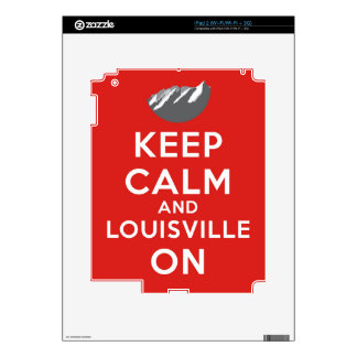 Keep Calm and Louisville On, Louisville, Colorado Skins For The iPad 2