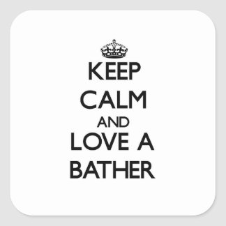 Keep Calm and Love a Baar Square Sticker