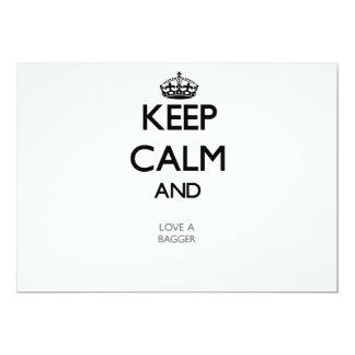 Keep Calm and Love a Bagger 5x7 Paper Invitation Card