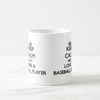 Keep Calm and Love a Baseball Player Classic White Coffee Mug