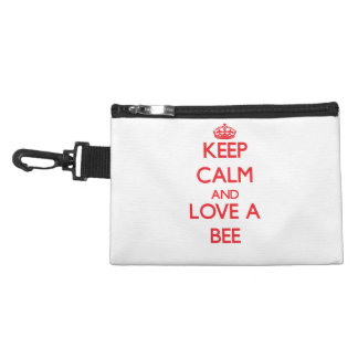 Keep calm and Love a Bee Accessory Bags