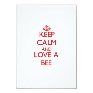 "Keep calm and Love a Bee 5"" X 7"" Invitation Card"