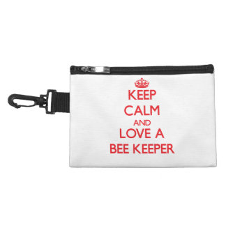 Keep Calm and Love a Bee Keeper Accessories Bags